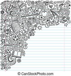 Back to School Ink Notebook Doodles