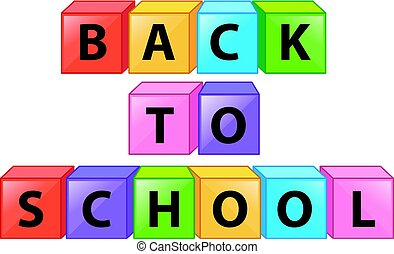 Back to school on square boxes