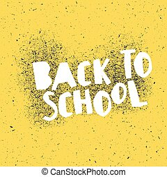 Back to school poster design with yellow background