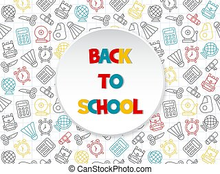 Back to school poster template, vector illustration
