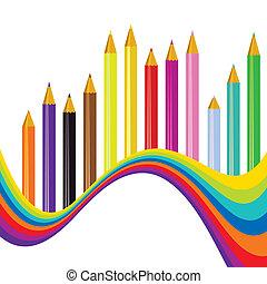 Back to school rainbow background