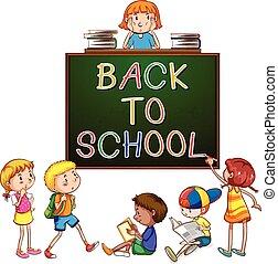 Back to school signboard