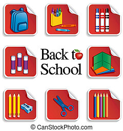 Back to School Stickers, Apple