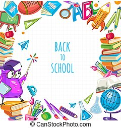 Back to school template for poster