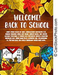 Back to School vector stationery poster
