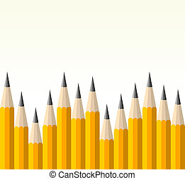 Back to school yellow pencil pattern