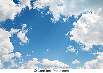 background. beautiful blue sky with clouds