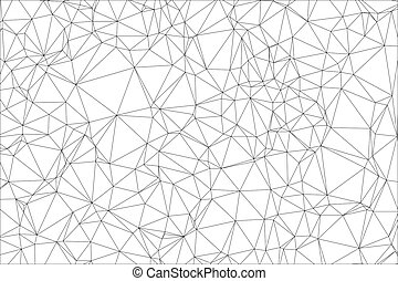 Background black and white polygon. Geometric backdrop.