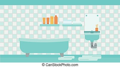 Background of leaking sink in the bathroom.