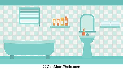 Background of private bathroom.