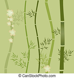Background with bamboo . Vector