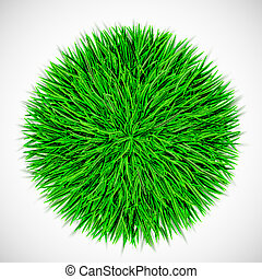 Background with circle of grass