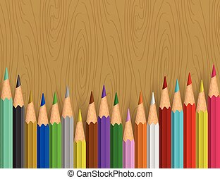 Background with color pencils