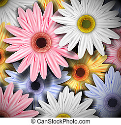 Background with colorful gerberas