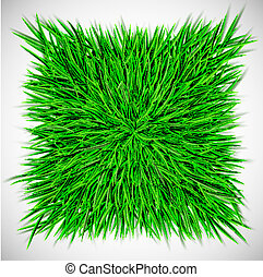 Background with square of grass
