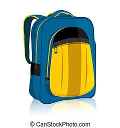 illustration of bag pack on isolated background..