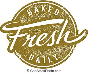 Baked Fresh Daily Stamp