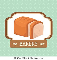 Bakery food and gastronomy graphic design, vector illustration