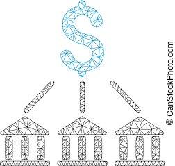 Bank Association Vector Mesh Network Model