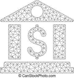 Bank Office Vector Mesh Network Model