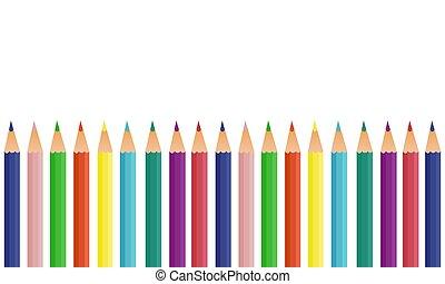banner vector multicolored pencils