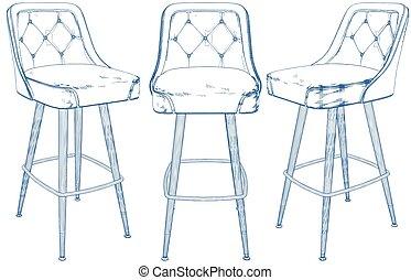 Bar Chair Vector 02.eps