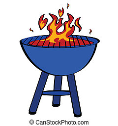 Cartoon illustration of a barbecue grill