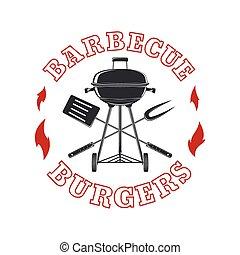 Barbecue logo template.