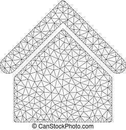 Base Building Vector Mesh Carcass Model