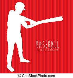 baseball league over red background vector illustration