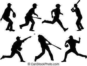 baseball silhouettes collection 5