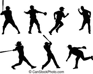 baseball silhouettes collection 6