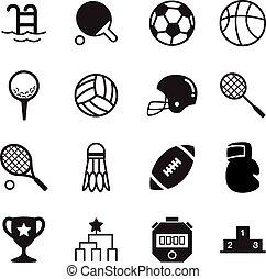 Basics Sports silhouette Icons Vector symbol set