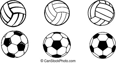 basketball and american football icon on white background