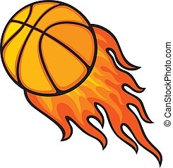 basketball ball in fire