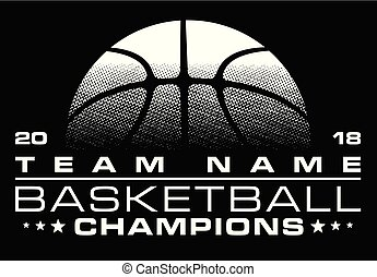 Basketball Champions Design With Team Name