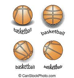 Basketball Creative Grunge Logo Design