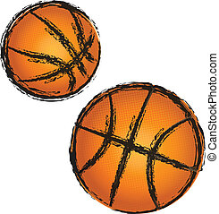 Basketball grunge illustration