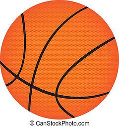 basketball isolated over white background. vector illustration