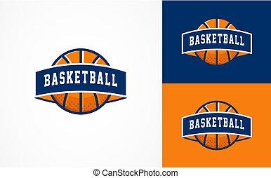 Basketball Logo, American sports symbol and icon