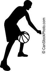 Basketball Player in Action with ball