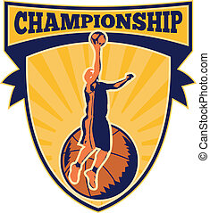 Basketball Player Lay-up Ball Shield