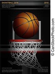 Basketball Poster Advertising Vector Illustration