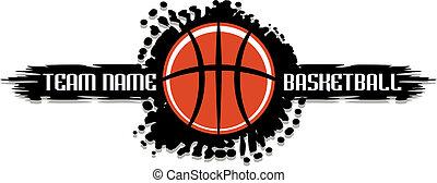 basketball splatter design