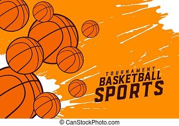 basketball sports tournament background design