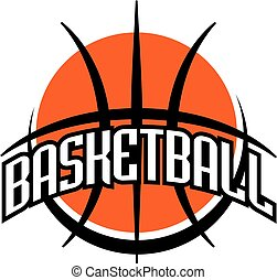 basketball team design with ball for school, college or league