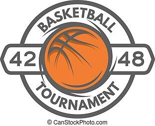 Basketball template Logo, badge, emblem.
