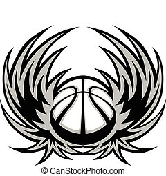 Basketball Template with Wings