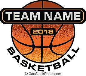 Basketball Textured Design
