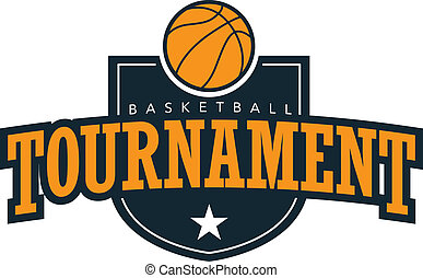 A crest style design for basketball tournaments and teams.
